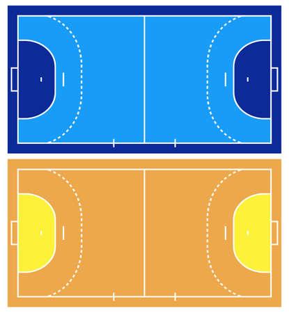 Handball court isolated on white Vektorové ilustrace