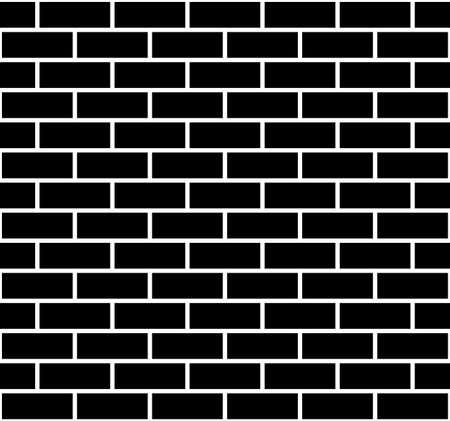 Illustration of seamless brick wall