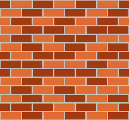 Illustration of brown seamless brick wall