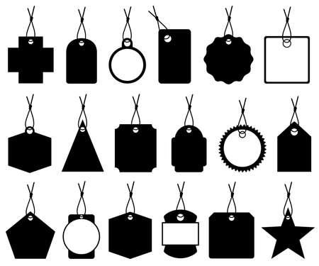 Set of different price tags isolated on white Ilustração Vetorial
