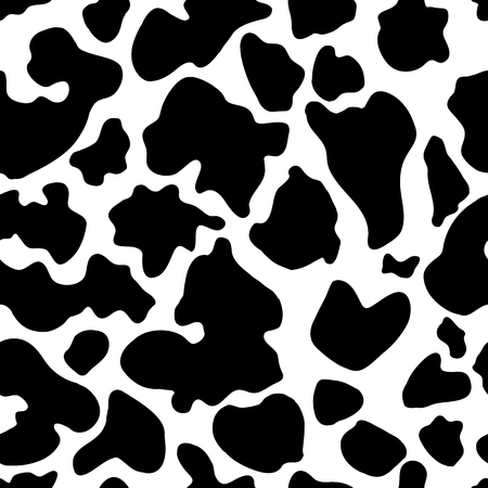 Seamless texture of cow hide. Wallpaper skin of cattle. Vector cow skin Иллюстрация