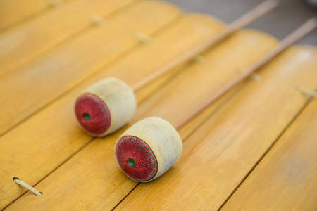 thai musical instrument: xylophone Stock Photo