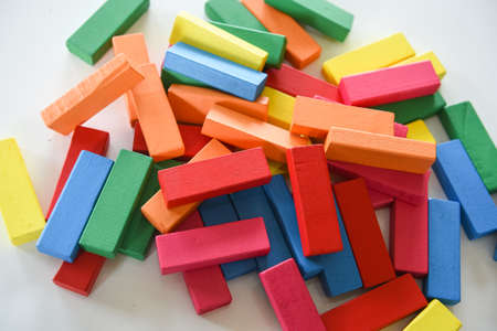 The colorful wood bar, toy for children