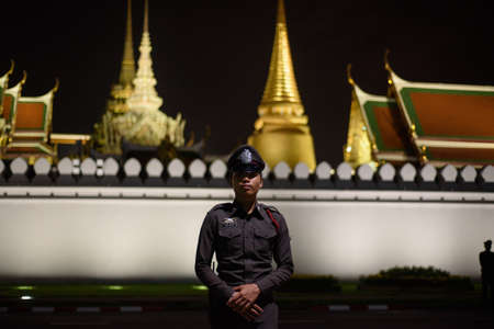 BANGKOK,THAILAND-DEC5,2016:The death of Thai beloved king rama9 on 13 October,2016 makes the people being in mourning.