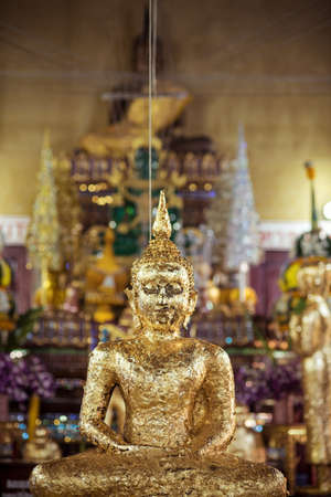 Golden Buddha covered the name Luang pao wat pak dang, It is sacred to people who believe. And many pay homage.