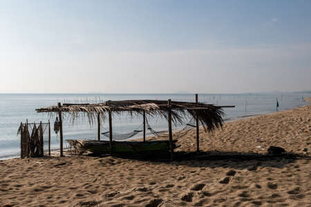 Fishermen built moorings by the sea For vacation And relax while working hard