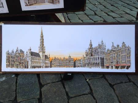 artwork: Amazing art on the road in Brussels Belgium  Stock Photo