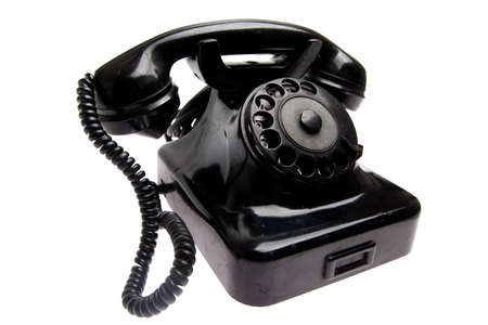 old vintage phone isolated Stock Photo - 24279565