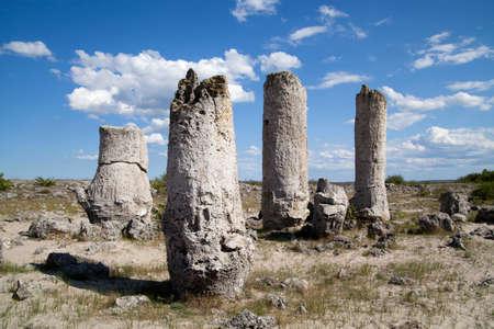 phenomenon: Stone Forest near Varna, Bulgaria, Pobiti kamani, rock phenomenon