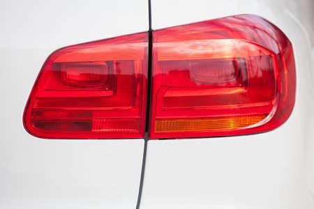 現代の車のテールライトのクローズ アップ