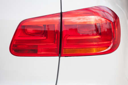 taillight: Closeup of a taillight on a modern car