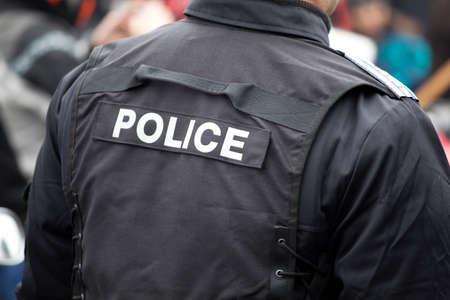 警察官の詳細 写真素材
