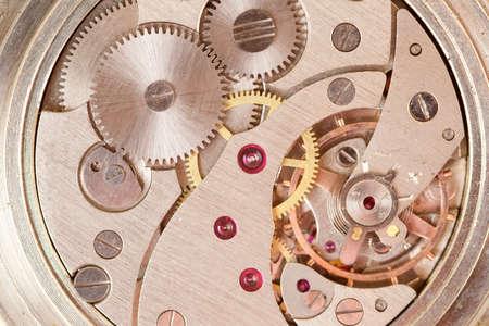 時計じかけの時計をクローズ アップ 写真素材