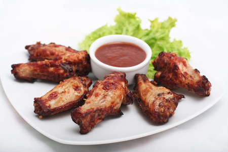 bbq chicken: Chicken Wings with Red Sauce