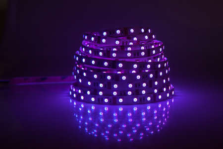 青光る LED ガーランド、ストリップ