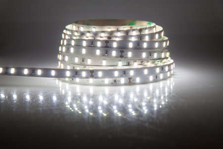 Glowing LED garland, strip  photo