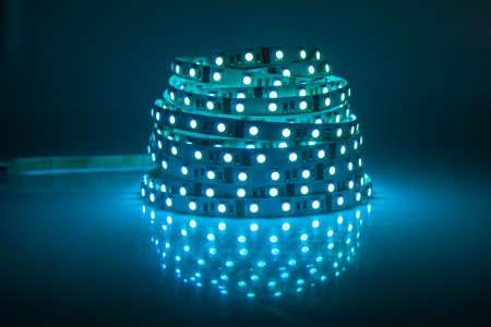 光る LED ガーランド、ストリップ 写真素材