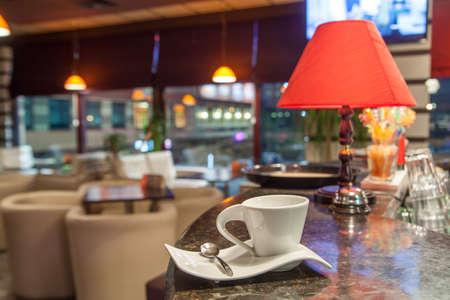 coffeeshop: Coffee cup at coffeeshop Stock Photo