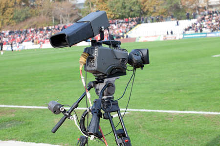 mach: TV Camera on the football (soccer) mach