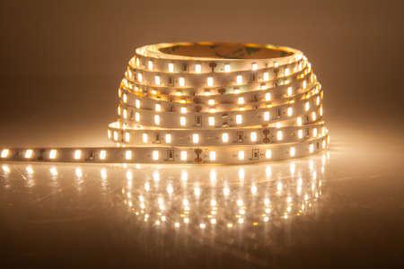 Glowing LED garland, strip Stock Photo - 33094326
