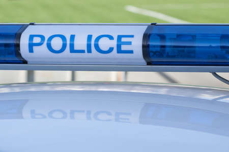 light duty: police car sign. siren light