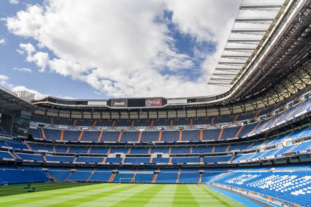 MADRID, SPAIN - MAY 14: Santiago Bernabeu Stadium of Real Madrid on May 14, 2009 in Madrid, Spain. Real Madrid C.F. was established in 1902. It is the best club of XX century according to FIFA.