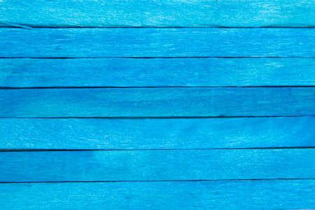 Wood plank blue background Imagens