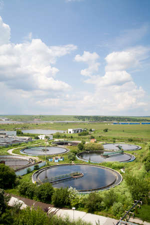 water purification plant: Cleaning construction for a sewage treatment