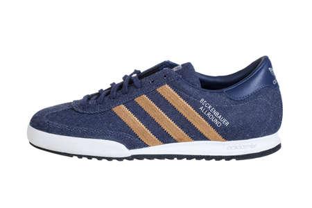 adidas: Varna , Bulgaria - OCTOBER 17, 2013 :ADIDAS BECKENBAUER ALLROUND shoe. Isolated on white. Product shots