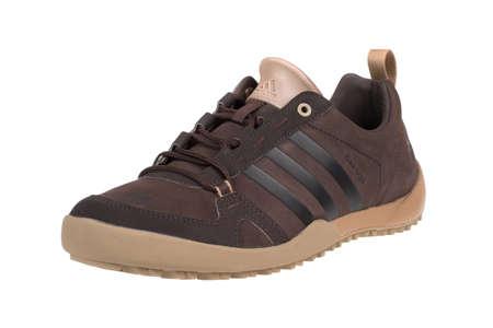 adidas: Varna , Bulgaria - NOVEMBER 26, 2014 : ADIDAS DAROGA TWO 11 LEA   shoe. Isolated on white. Product shots
