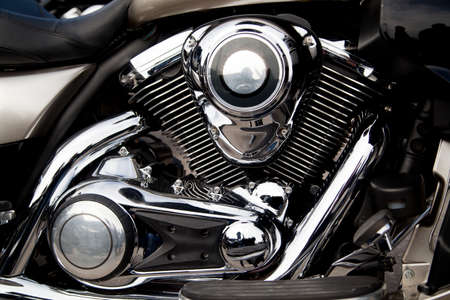 オートバイ エンジン、モーターのクローズ アップ 写真素材
