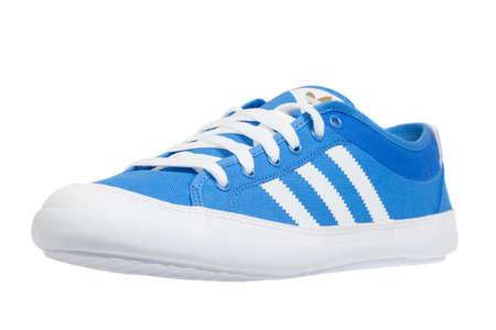 adidas: Varna , Bulgaria - FEBRUARY 26, 2014 : ADIDAS sport shoe. Isolated on white. Product shots