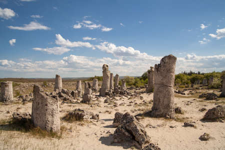 Stone Forest near Varna, Bulgaria, Pobiti kamani, rock phenomenon
