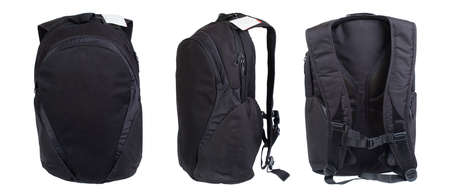studio shots: Black backpack isolated on white. Product studio shots