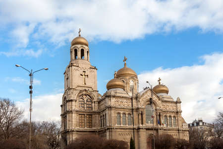 byzantine: Varna, Bulgaria. View of the Cathedral of Byzantine style