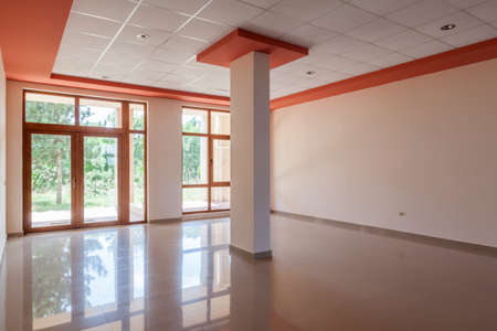 empty room, office, interior. reception hall in modern building