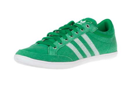 adidas: Varna , Bulgaria - FEBRUARY 14, 2015 : ADIDAS ORIGINALS PLIMCANA shoe. Isolated on white. Product shots