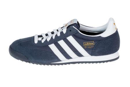 adidas: Varna , Bulgaria - FEBRUARY 28, 2013 :ADIDAS DRAGON shoe. Isolated on white. Product shots