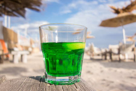 coctail on the beach Stock Photo