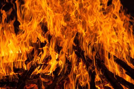 crematorium: burning fire