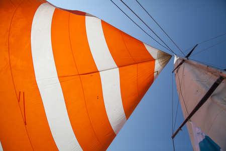 帆船の帆 写真素材