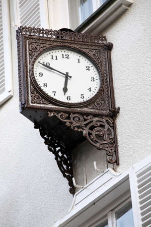 turns of the year: Old stylish external clock
