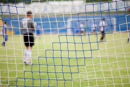 mach: Football net during a football mach