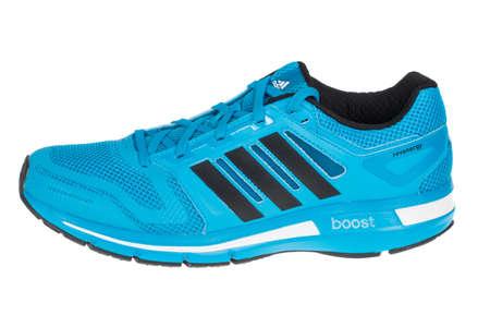 adidas: Varna , Bulgaria - MAY 12, 2015 : ADIDAS ADIDAS REVENERGY MESH shoe. Isolated on white. Product shots