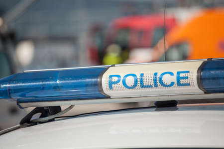 police lights: police car sign. siren light