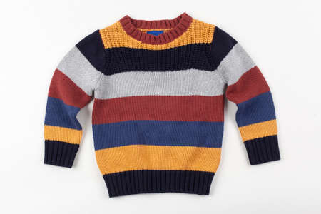pullover: colorful sweater for children Stock Photo
