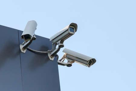 セキュリティの cctv カメラ 写真素材