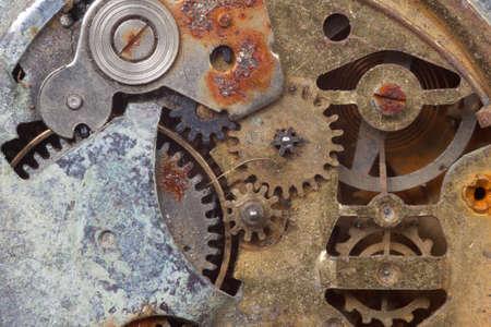 gears: Cerca de los viejos reloj oxidado
