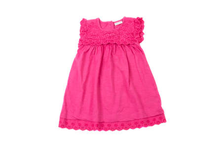 summer dress: elegant light pink children summer dress, isolated