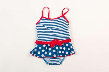 Cute children's swimsuit. Bathing suit for little girls